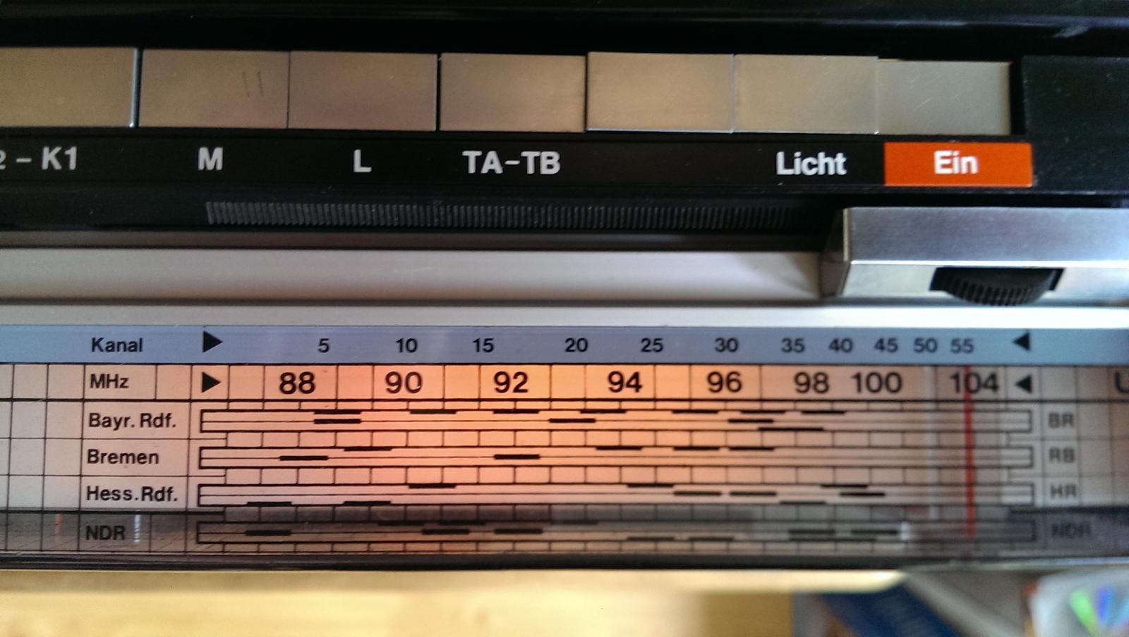 ITT Schaub-Lorenz Touring International 104 52151411 - FM schaalindeling