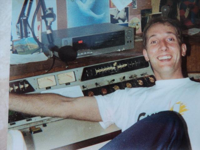 Frank Petersen op de Ross voor Radio 558