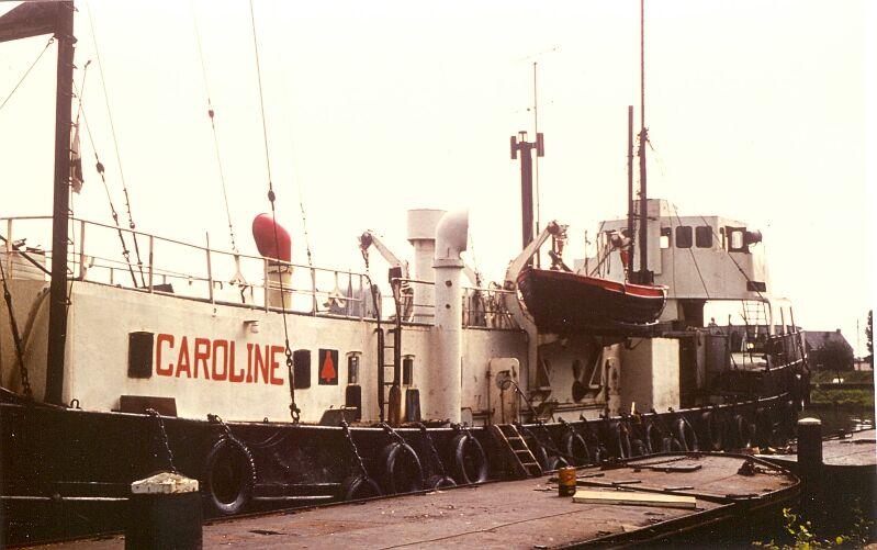 1972, Radio Caroline. De Ouwe Zeehaven in Zaandam