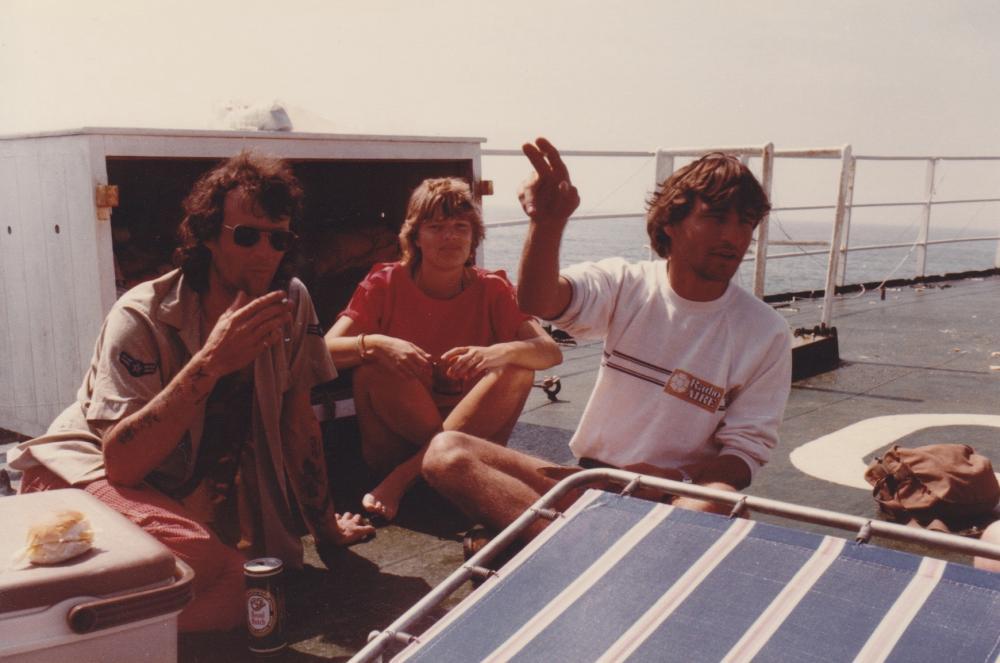 Tom Anderson, Marjo, Blake Williams 1983.jpg