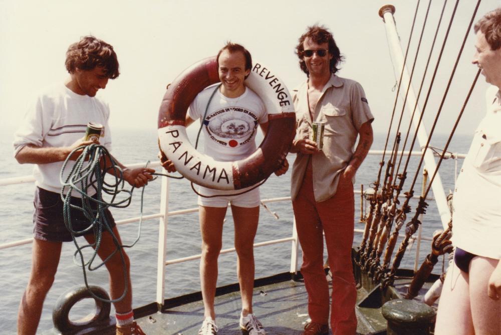 Tom Anderson, Leendert, Blake Williams, Jelle Boonstra 1983.jpg