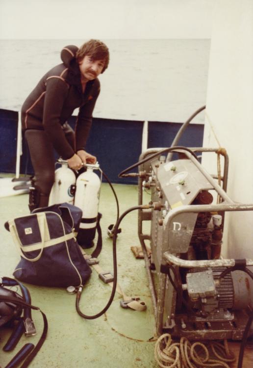 Duiken met Willy Wormleighton op Zeemeeuw 1984.jpg