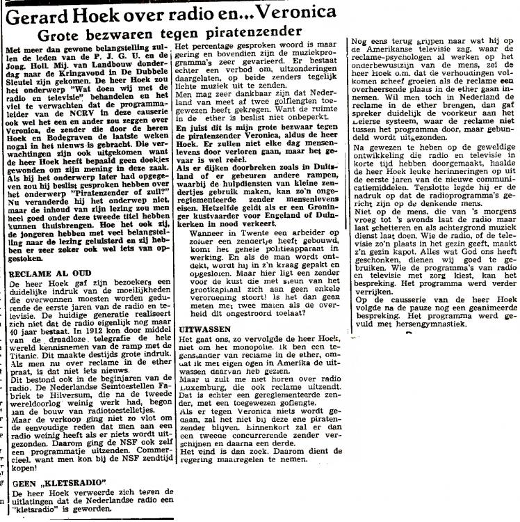 9 maart 1962 Woerdense Courant Gerard Hoek Plattelands Jongeren Gemeenschap Utrecht bew.png