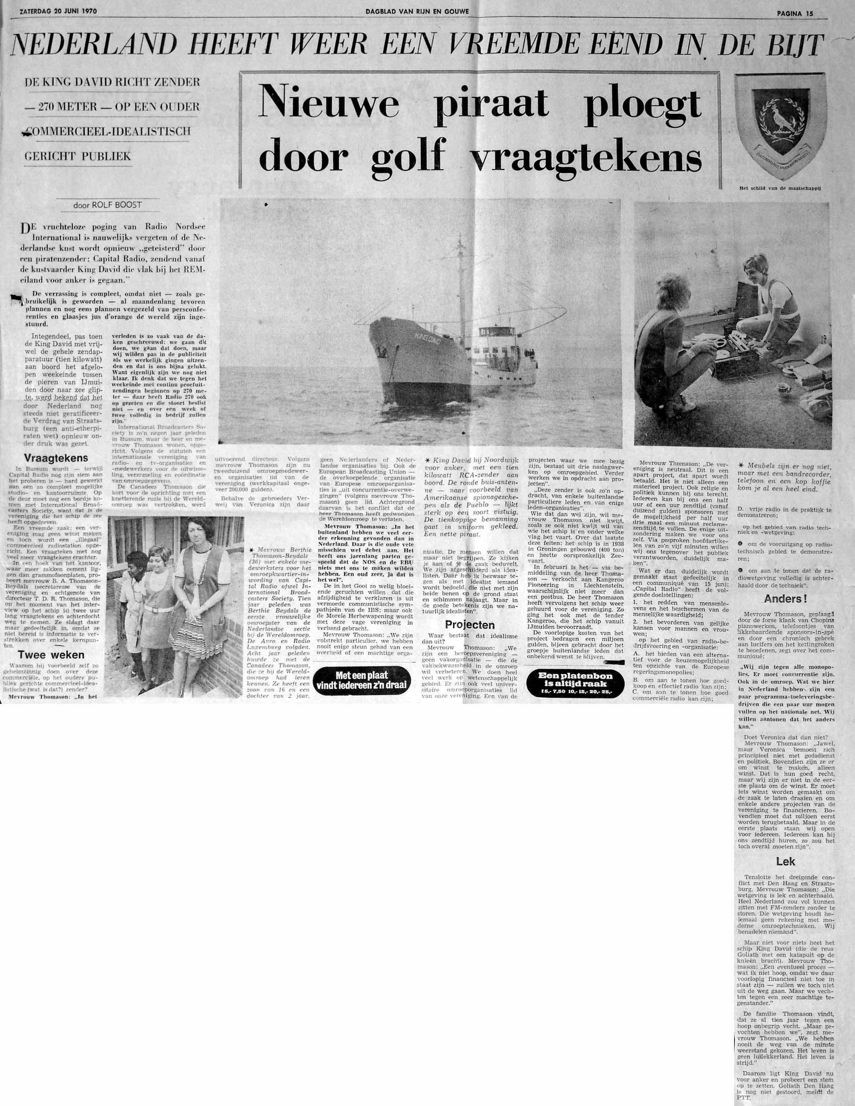 19700620 RG Nieuwe piraat ploegt door golven Capitol.jpg
