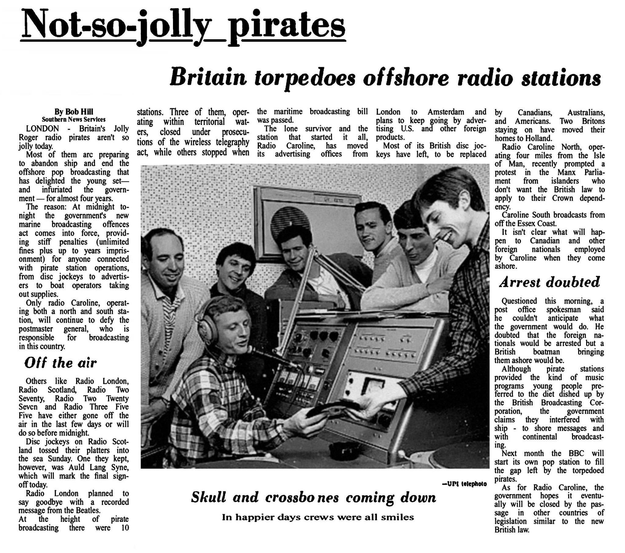 19670804 Ottawa Citizen Britain torpedoes offshore radio stations.jpg