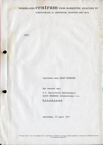 Luisteronderzoek - 01 - 19710427