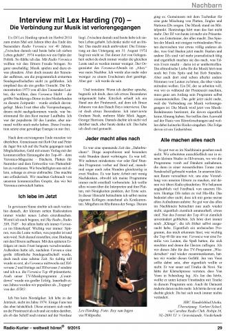 20150929 Lex Harding in Radio Kurier.jpg