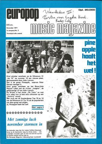 Europop Magazine - 03 - november 1971