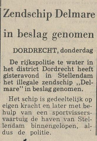 197910 Delmare Zendschip Delmare in beslag genomen.jpg