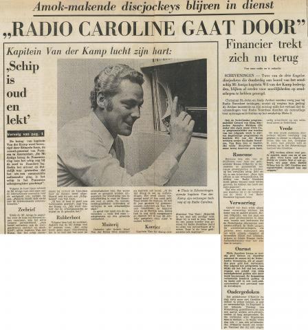 19721230 Vaderland Radio caroline gaat door schip is lek.jpg