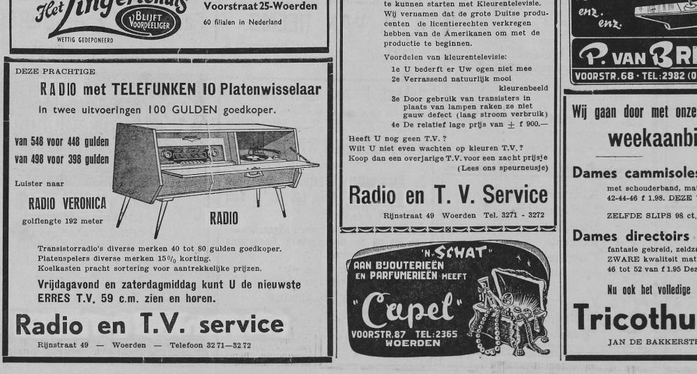 Radio Veronica advertentie Telefunken 6 Oktober 1961 bew.png