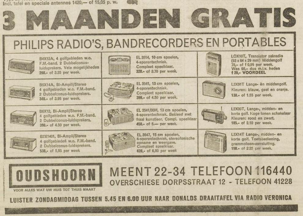 Veronica Oudshoorn radio tv Luister Zondagmiddag tussen 5.45 en 6.00 naar Donalds draaitafels 31-08-1962.png