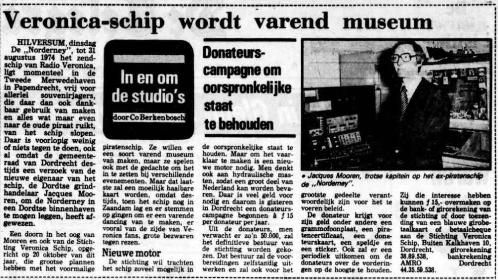 Veronica -schip wordt varend museum 22-11-1977.png