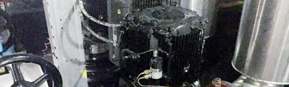 Beperkte brand in technische ruimte VRT