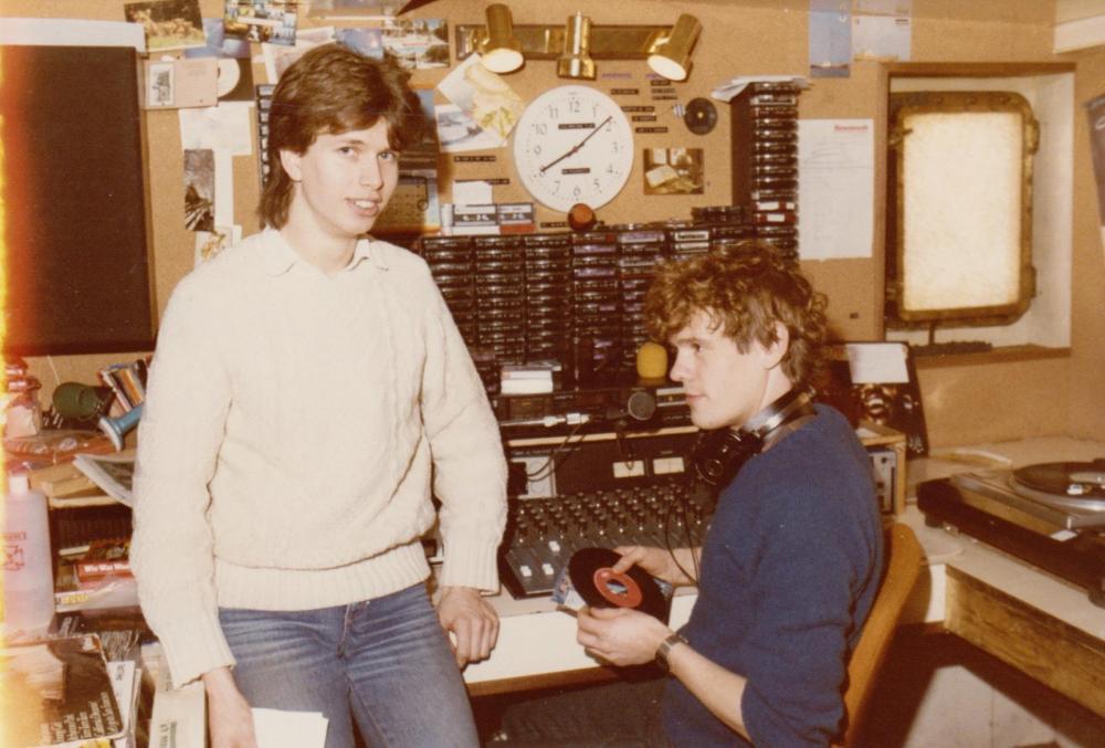 Ron West , Frits Mulder ,Ross Revenge maart 1985.jpg