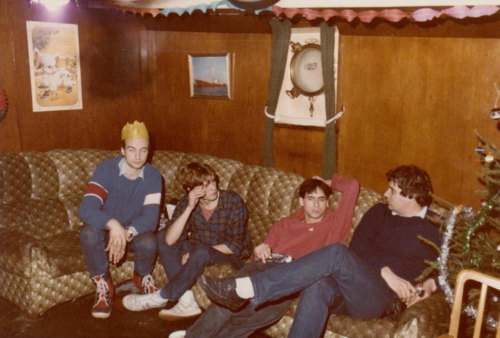 Leendert Vingerling, Frits Koning,Maarten de Jong, Fred Bolland, dec 1984 Ross Revenge.jpg