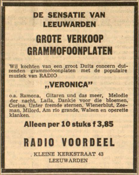 Veronica Advertentie 1963-01-25 Sensatie in Leeuwarden. Platenverkoop.jpg