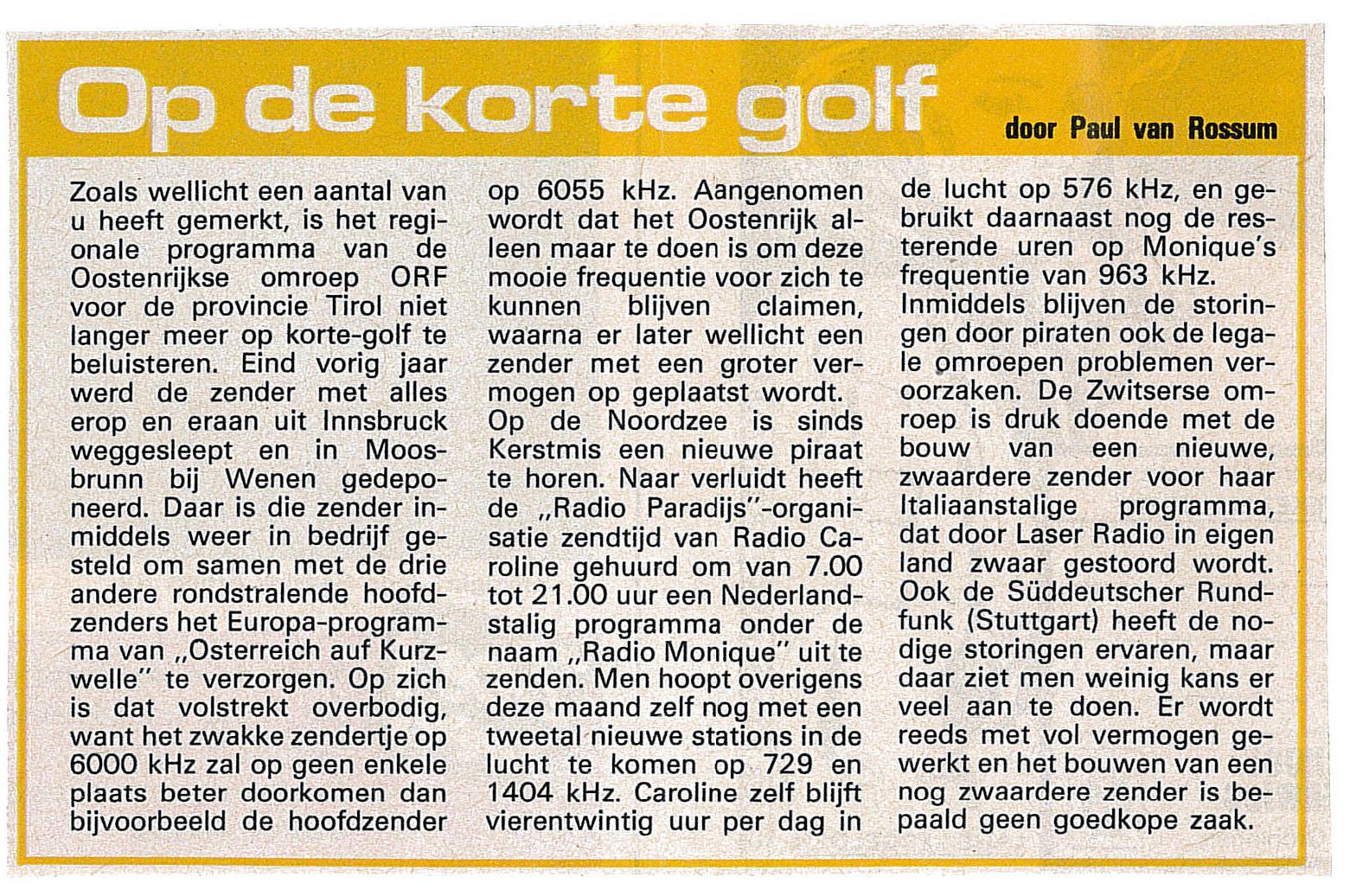 19850209 Avrobode Op de korte golf Monique.jpg