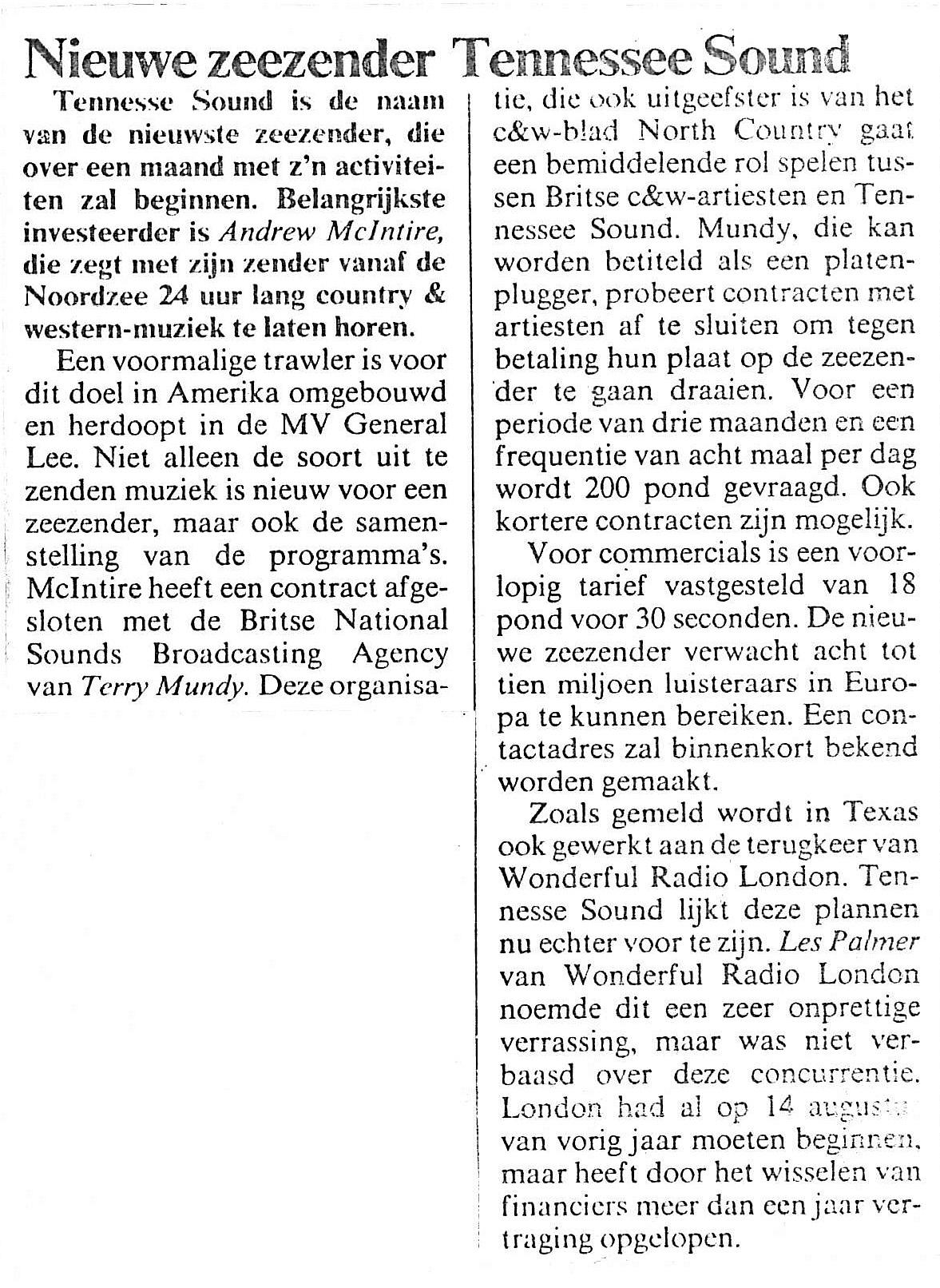 19850613 Adformatie Nieuwe zeezender Tennesse Sound.jpg