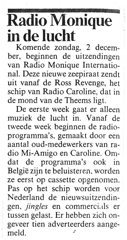 19841129 Adformatie Radio Monique in de lucht zondag 2 december.jpg