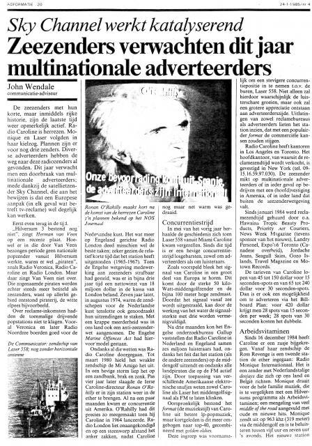 19850124 Adformatie Zeezenders verwachten dit jaar multinationale adverteerders laser caroline 01.jpg