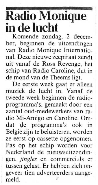 19841129 Adformatie Radio Monique in de lucht zondag 2 december.jpg