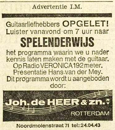 Veronica 1965-11-17 Luister vanavond (Woensdag) 1900 Programma Spelenderwijs 1900(Hans van der Mey). Aangeboden door Joh de Heer & zn.jpg