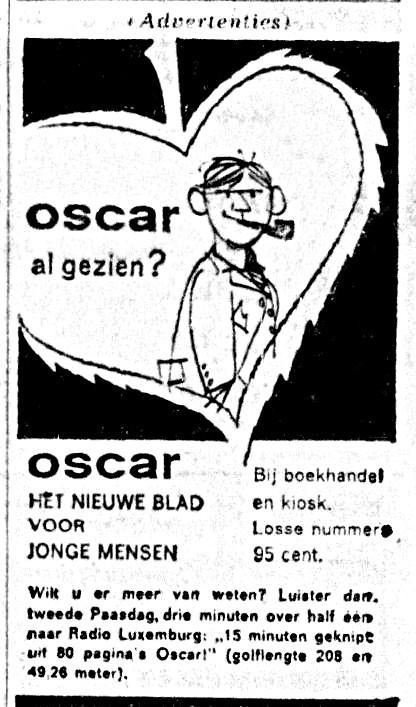 Oscar 1961-04-01 Oscar al gezien. Luister naar Radio Luxuemburg.jpg