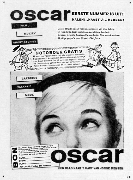 Oscar 1961-03-24 Nummer 1 is uit. Blad voor jonge mensen.jpg