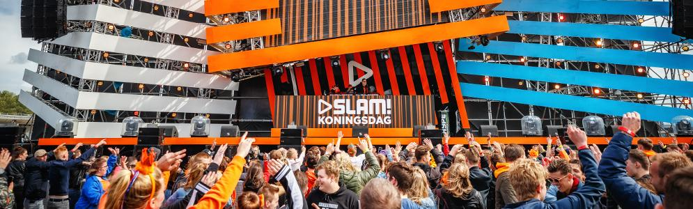 Tienduizenden uitzinnige bezoekers op SLAM! Koningsdag 2019