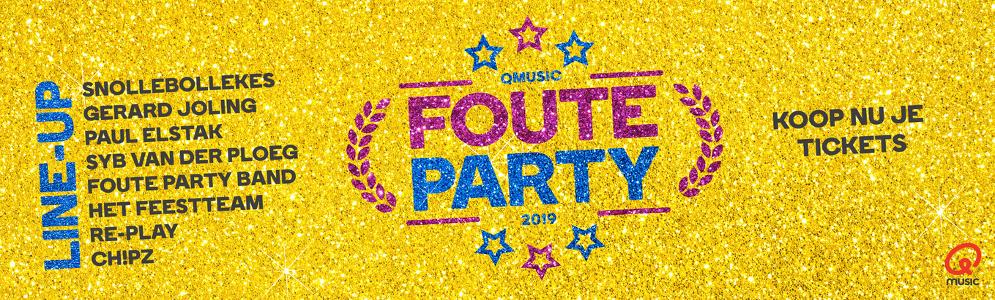 Zaterdageditie Foute Party uitverkocht