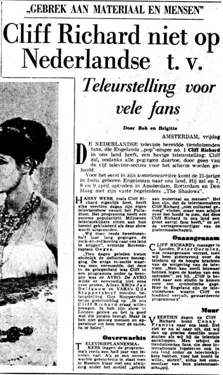 Cliff Richard 1962-03-16 Niet op televisie De Telegraaf.jpg