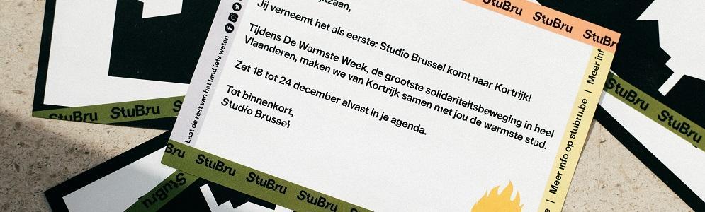 Studio Brussel en Kortrijk samen voor De Warmste Week