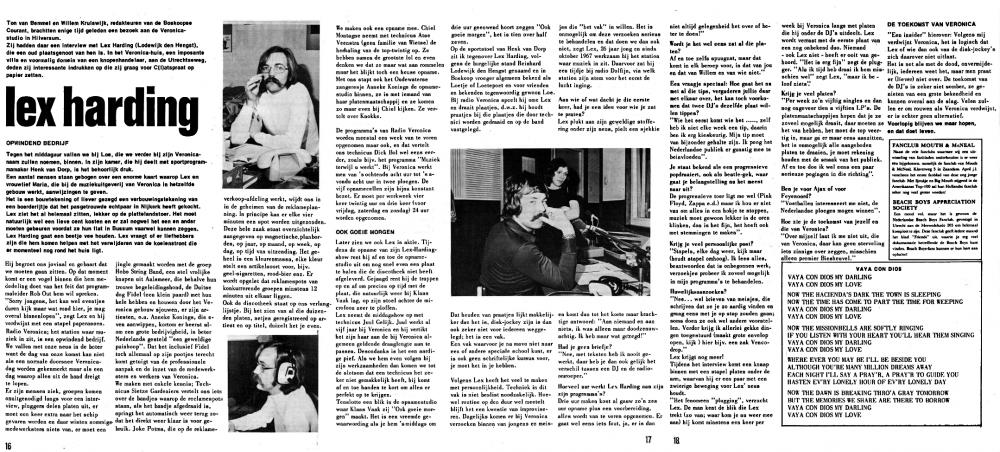 Veronica 1972-11-00 Artikel uit fanblad The Cats C(l)atspraat Nov. 1972 (Ton van Bemmel en Willem Kruiswijk Boskoopse Courant).png