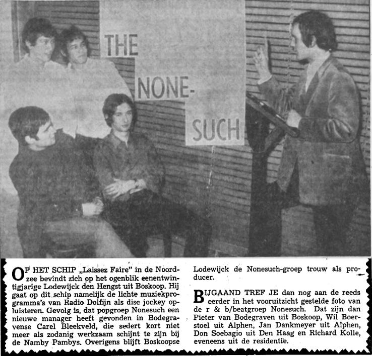 Lex Harding 1967-02-18 Lodewijk (Lodewijck) Den Hengst, manager van The None-such, naar Radio Dolfijn (Leidse Courant).png