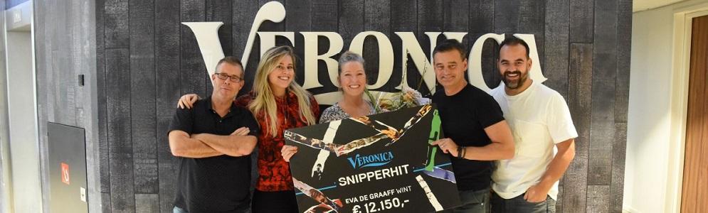 Eva de Graaff uit Eesveen wint hoogste 'Veronica Snipperhit' jackpot