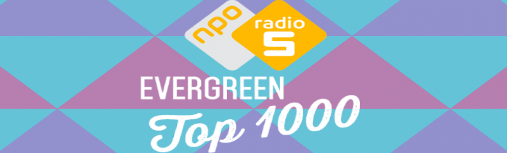 Stemmen op de Evergreen Top 1000 van NPO Radio 5