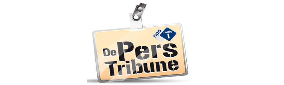 Haye van der Heyden en Rintje Ritsma op De Perstribune van MAX