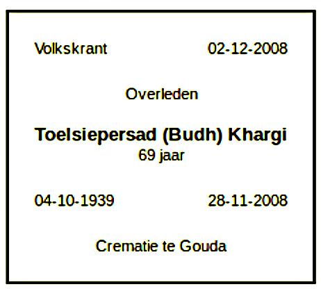 Toelsiepersad (Budh) Khargi overlijdensbericht Volkskrant.png
