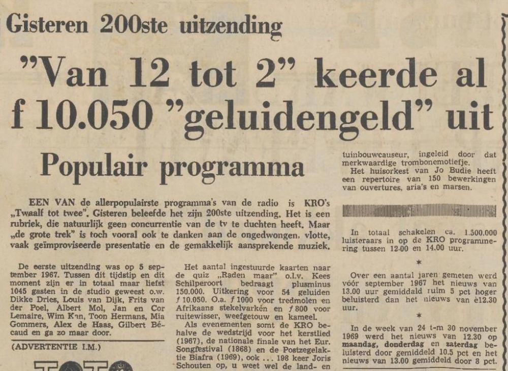 Friese koerier : onafhankelijk dagblad voor Friesland en aangrenzende gebieden Van Twaalf Tot Twee Raden Maar    11-01-1969 .jpg