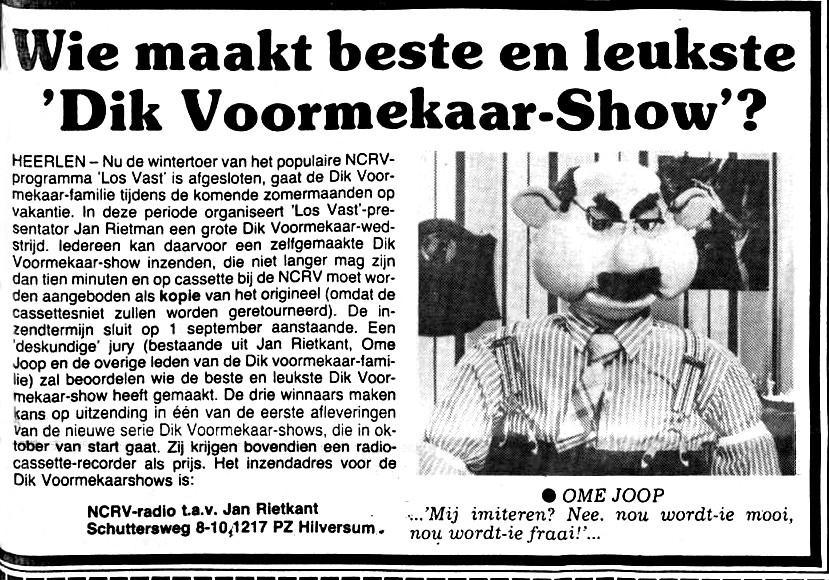 Limburgsch dagblad Dik v m show Jan Rietkant    14-06-1984 .jpg
