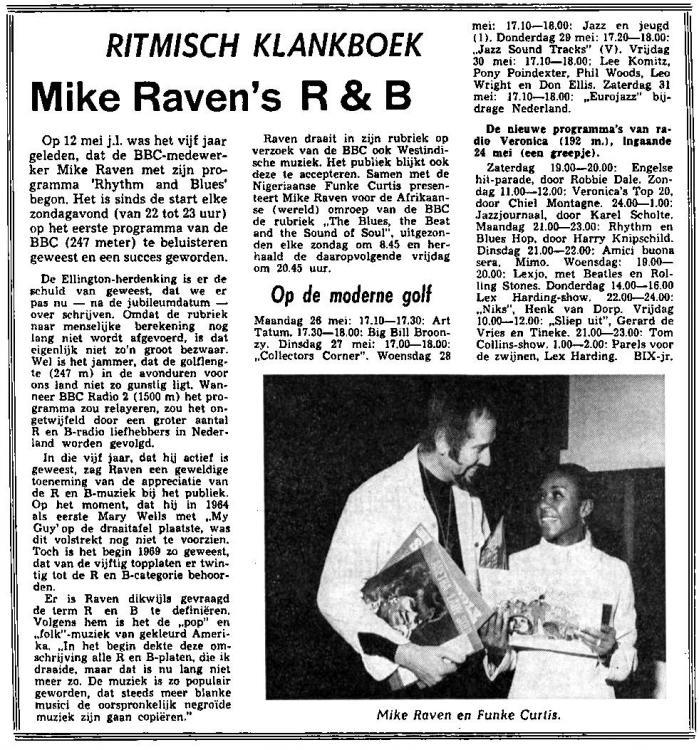 Veronica 1969-05-24 Zaterdag Nieuwsblad van het Noorden. De Nieuwe programma's van radio Veronica 192m ingaande 24 mei (NIKS HvD).jpg