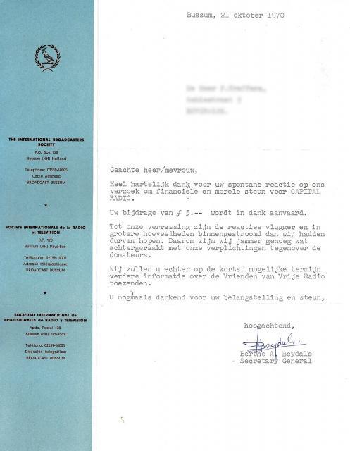 19701021 Capital Radio brief Berthe Beydals.jpg