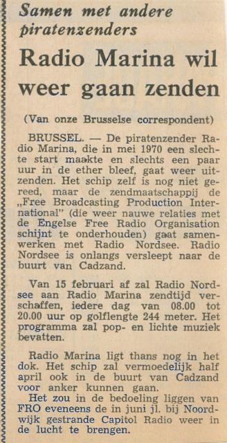 197105 Radio Marina wil weer gaan zenden Capital Radio.jpg