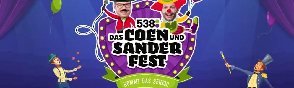 538-dj's en vrienden van de show helpen Sander Lantinga bij 'Das Coen und Sander Fest'