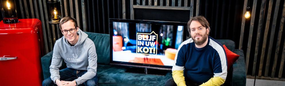 VTM en Qmusic slaan handen in elkaar voor live-programma 'Blijf in uw kot!'