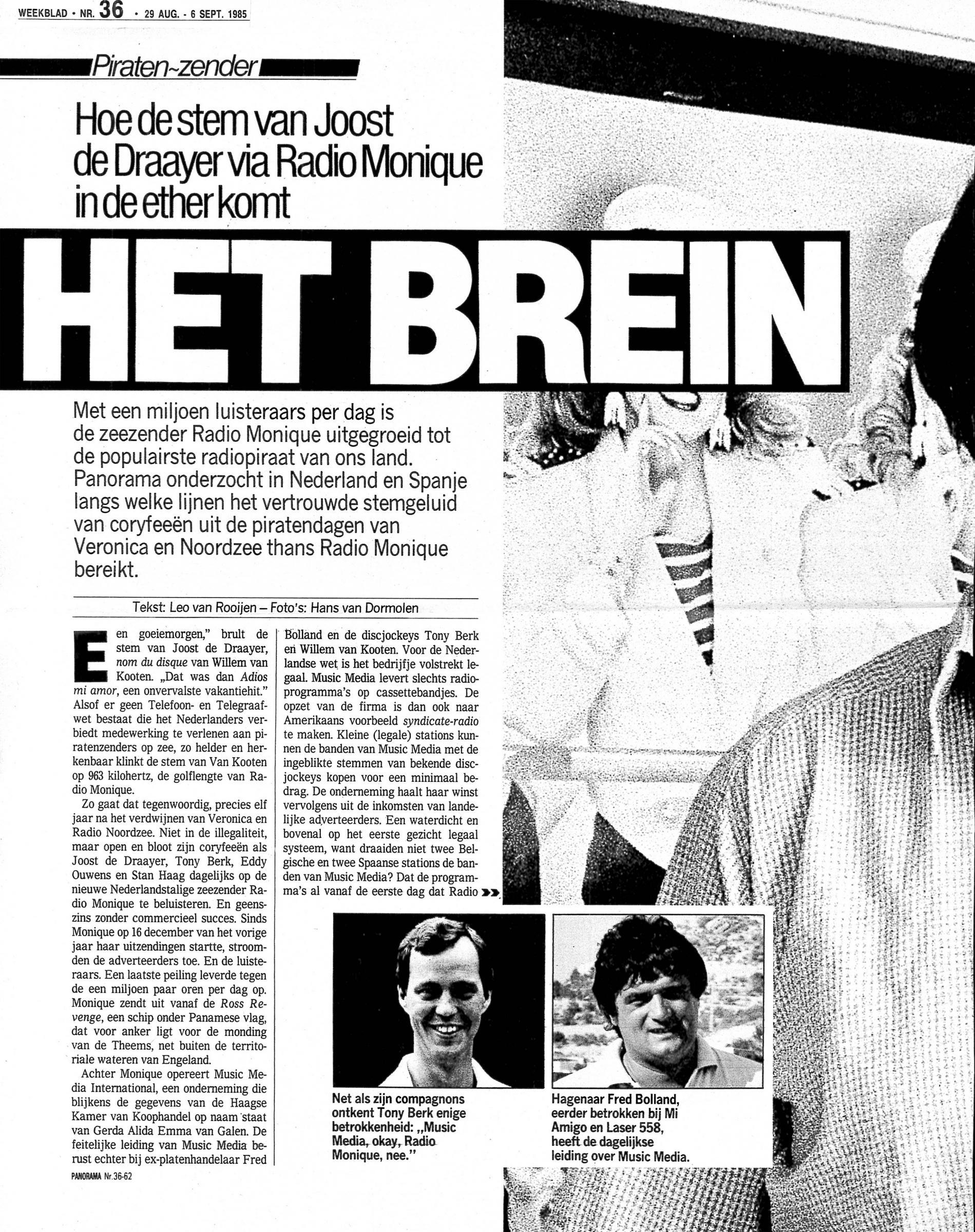19850906 weekblad Het brein Hoe de stem van Joost via Radio Monique in de ether komt 01.jpg