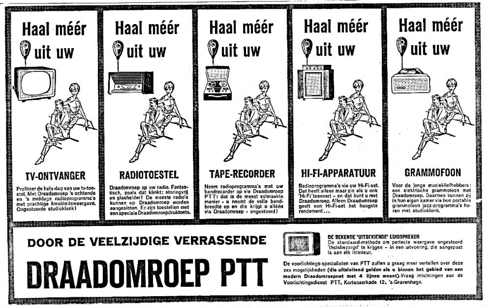 Draadomroep PTT Advertentie 1959-10-21.png