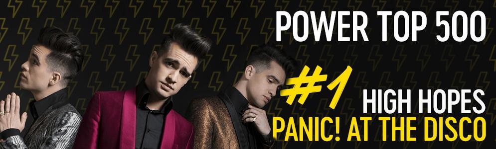 High Hopes van Panic! At The Disco op nummer 1 in de Power Top 500 van Qmusic