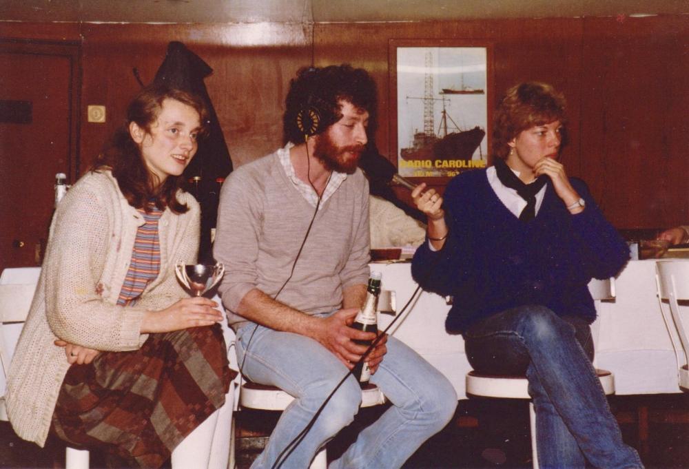 Dart competition Easter 1985  Fiona Jeffreys, Simon Barrett, Marjo Marcus ,Ross Revenge.jpg